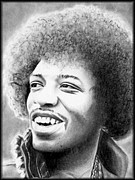 Etc. Drawings - Jimi Hendrix by Michael Yacono
