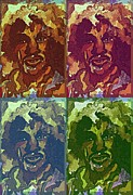 Jimi Hendrix Digital Art Prints - Jimi Hendrix Print by Mindy Newman