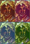 Jimi Hendrix Print by Mindy Newman