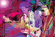 Rock Guitar Paintings - Jimi Hendrix Monterey Pops by David Lloyd Glover