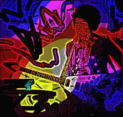 Guitar Player Digital Art - Jimi Hendrix Number 22 by George Pedro