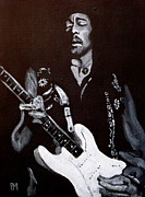 Guitar God Framed Prints - Jimi Hendrix Framed Print by Pete Maier