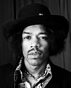 Jimi Hendrix Photos - Jimi Hendrix Portrait 1967 by Chris Walter
