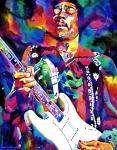 Jimi Hendrix Purple Print by David Lloyd Glover