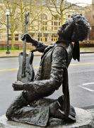 Rockstar Photos - Jimi Hendrix Statue by Greg Vaughn - Printscapes