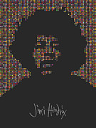 Rock N Roll Digital Art - Jimi Hendrix by Tim Bird