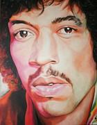 Jimi Hendrix Print by Timothe Winstead
