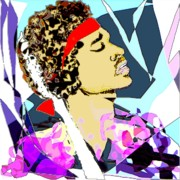 White Digital Art - Jimi In Heaven  by Navo Art