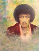 Rock And Roll Painting Originals - Jimi by Jean LeBaron