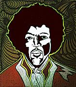 Music Portraits Art - Jimi by Jeff DOttavio