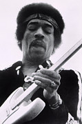 Headband Metal Prints - Jimi Plays Berkeley, Jimi Hendrix, 1971 Metal Print by Everett