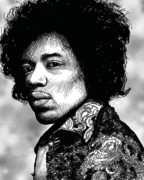 Guitar Player Digital Art - Jimi by Richard Larson