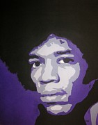Band Painting Originals - Jimi by Rock Rivard