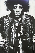 Pop Icon Posters - Jimi Poster by Tony Corbitt