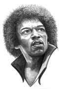 (murphy Elliott) Drawings - Jimmi Hendrix by Murphy Elliott