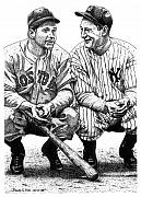 Lou Gehrig Drawings Originals - Jimmie and Lou by Bruce Kay