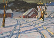 Berkshires Of New England Prints - Jimmy Alibozeks Palce Print by Len Stomski