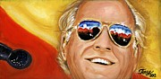 Jazz Artwork Painting Originals - Jimmy Buffet At The Jazz Fest by Terry J Marks Sr