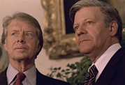 Carter House Photo Posters - Jimmy Carter Meeting With German Poster by Everett