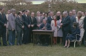 Legislation Prints - Jimmy Carter Signing The Age Print by Everett