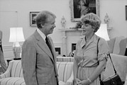 Carter House Photos - Jimmy Carter With Congresswoman by Everett