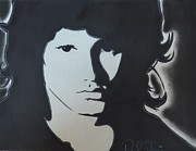 Jim Morrison Drawings Prints - Jimmy Print by Daniel Torres