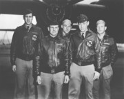 Aviation Photo Prints - Jimmy Doolittle and His Crew Print by War Is Hell Store