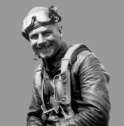 Pilot Digital Art Framed Prints - Jimmy Doolittle Framed Print by War Is Hell Store