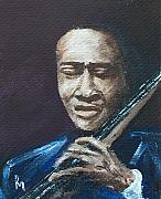 Musician Portrait Painting Originals - Jimmy G. by Pete Maier