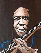 Musicians Painting Originals - Jimmy Garrison by Pete Maier