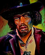 Jimmy Hendrix Paintings - Jimmy Hendrix by Chloe Malmquist