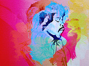 Rock Music Paintings - Jimmy Hendrix by Irina  March
