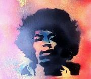 Jimmy Hendrix Paintings - Jimmy by My Imagination Gallery