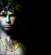 Jim Morrison Prints - Jimmy On acid Print by Shiva  Designz