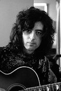 Jimmy Page Prints - Jimmy Page 1970 Print by Chris Walter