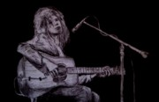 Acoustic Guitar Drawings - Jimmy Page by Bekim Axhami
