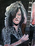 Led Zeppelin Paintings - Jimmy Page by John Pasdach