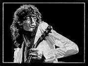 Led Zeppelin Drawings - Jimmy Page2 by Anthony Warner