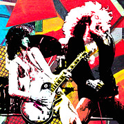 Jimmy Page And Robert Plant Posters - Jimmy Robert  Poster by Kevin Newton
