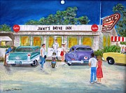Key West Paintings - Jimmys Drive Inn by Linda Cabrera