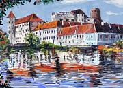 Jindrichuv Hradec City Print by Ondrej Soukup