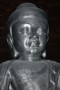 Buddhism Art - Jingan Silver Buddha - Shanghai China by Christine Till