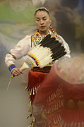 Portraite Metal Prints - Jingle Dancer 1 Metal Print by Bob Christopher