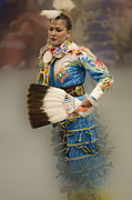 Portraite Metal Prints - Jingle Dancer 7 Metal Print by Bob Christopher