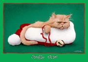 Humorous Cat Paintings - Jingle This... by Will Bullas