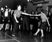 Plaid Skirt Prints - Jitterbug Dancers, Ca. 1943 Print by Everett