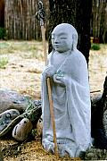 Dharma Acrylic Prints - Jizo Bodhisattva - Childrens Protector Acrylic Print by Dagmar Ceki