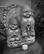 The Sun Rising Prints - Jizo Bodhisattva Deities- Daitoku-ji Temple Japan Print by Daniel Hagerman