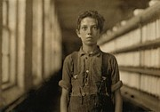 Mechanization Framed Prints - Jo Bodeon, A Child Laborer In The Chace Framed Print by Everett