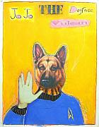 Star Pastels Framed Prints - Jo Jo The Dodfaced Vulcan Framed Print by Mike  Mitch
